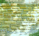 After retaining wall rebuilding