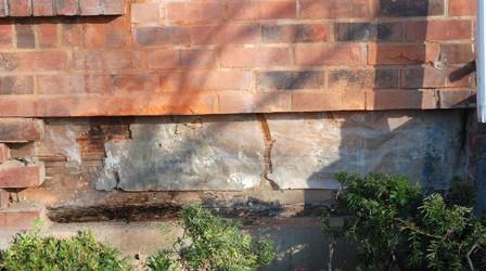 No Flashing Under Bricks Means Leaking Foundation