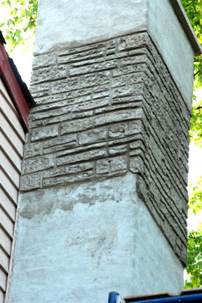 Damaged chimney? How about a Decorative Stucco Overlay?